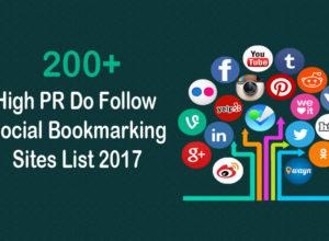 200+ High PR Do Follow Social Bookmarking Sites List 2017